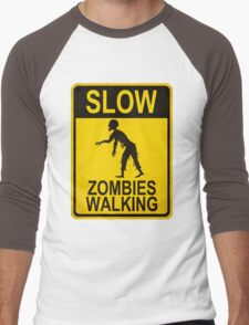 Slow Zombies Walking Men's Baseball ¾ T-Shirt