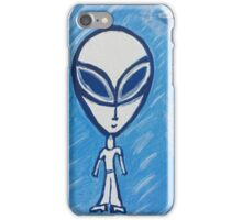 Cartoonist looking alien, abduct him before he does you iPhone Case/Skin