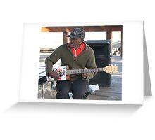 Castrol Guitar Greeting Card