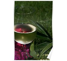 A glass of wine Poster