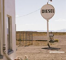Gas station. Lages Station, Nevada. by Christina Weber