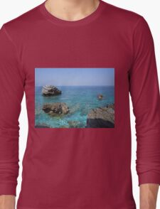 Coast at Mount Pelion Greece Long Sleeve T-Shirt