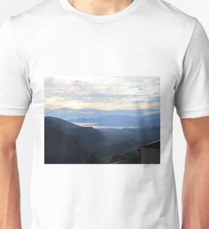 View from Delphi, Greece Unisex T-Shirt