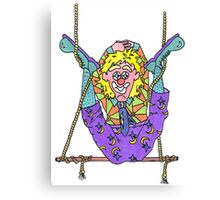 Clowning on a Trapeze Canvas Print