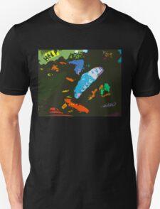 Alien Art UFO Dance in Cosmos Unisex T-Shirt