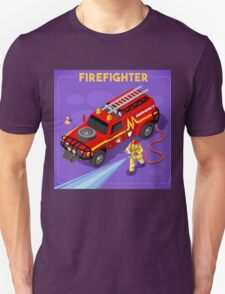 Firefighter with Hydrant T-Shirt