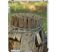 Fence Post with barb wire iPad Case/Skin