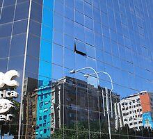 Streetscape Reflections (1), Rio de Janeiro, Brazil.  by Carole-Anne