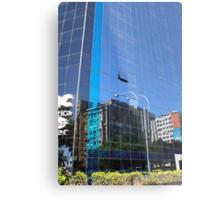 Streetscape Reflections (1), Rio de Janeiro, Brazil.  Metal Print