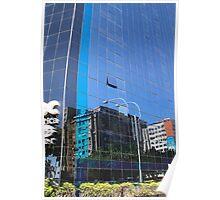 Streetscape Reflections (1), Rio de Janeiro, Brazil.  Poster