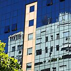 Streetscape Reflections (2), Rio de Janeiro, Brazil.  by Carole-Anne