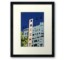 Streetscape Reflections (2), Rio de Janeiro, Brazil.  Framed Print