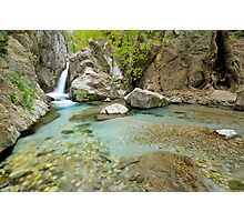 Waterfall in Greece, Taygetos mountain. Photographic Print