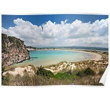 Beaches of Greece - Famous Voidiokoilia Beach  Poster