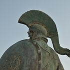 Statue of king Leonidas in Sparta, Greece  by nickthegreek82