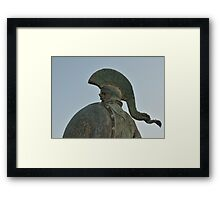 Statue of king Leonidas in Sparta, Greece  Framed Print