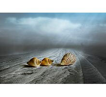 Foggy Beach Photographic Print