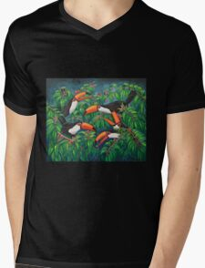 """Toucan Tea"" Mens V-Neck T-Shirt"