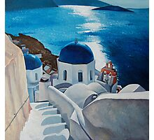 """Stairway to the blue church"" translated from photo of Lucinda Walter Photographic Print"