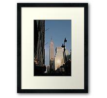New York icons Framed Print