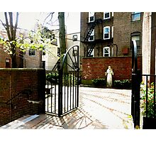 St. Francis in the Secret Gardens of the Old North Church Photographic Print