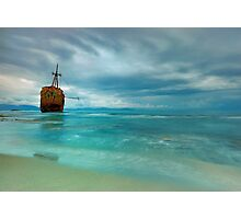 Famous Gytheio Shipwreck in Greece Photographic Print