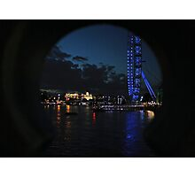 LONDON EYE THAMES PEEPHOLE Photographic Print