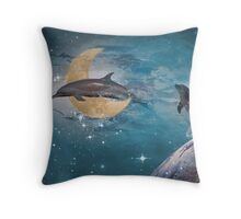 Dolphin Fantasy Throw Pillow
