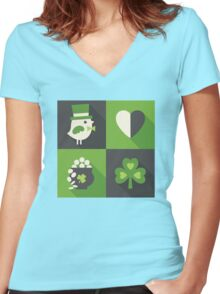Top of the Mornin' Women's Fitted V-Neck T-Shirt
