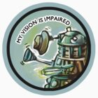 Dalek Fan Sticker 1 by Jessica Feinberg