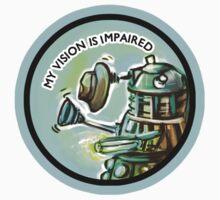 Dalek Fan Sticker 1 by Jessica Feinberg