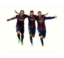 Messi Suarez Neymar Art Print