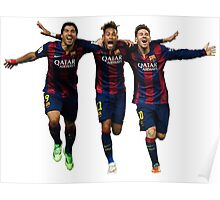 Messi Suarez Neymar Poster