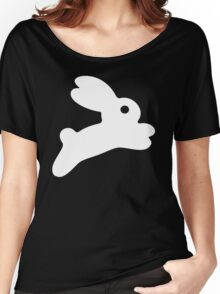Jumping White Bunny Women's Relaxed Fit T-Shirt