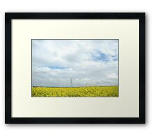 """""""Rapeseed and Towers"""" Framed Print"""