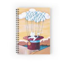 The cat Traveling in Dreams Spiral Notebook