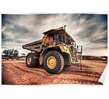 KOMATSU DUMP TRUCK - RANDALLS GOLD PROJECT- EMU FLATS WA Poster