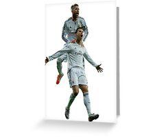 Cristiano Ronaldo & Sergio Ramos Greeting Card