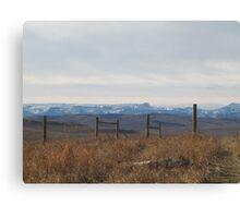 Where the Prairies start Canvas Print