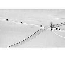 Paare und Passanten (winter walk) by Erwin G. Kotzab