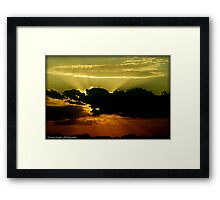 Highway Rays Framed Print