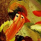 """""""Bearded Snow Man, Plumed Hat"""":  Detail from """"Christmas to Easter"""" by Sheila Van Houten"""