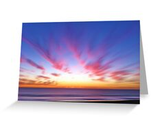 Time Warp Sunset Greeting Card