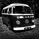 Classic VW Camper In Monochrome by Paul Shellard