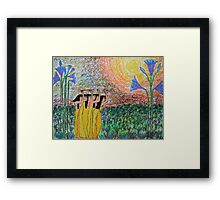 Ancient Dance of the Sun Framed Print