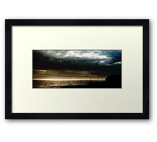 The great divide - Land, Sea and Air Framed Print