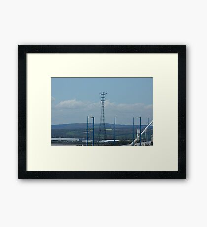 """""""Severn River Crossing Tower, South Wales"""" Framed Print"""