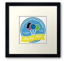 Bayley Pops Framed Print