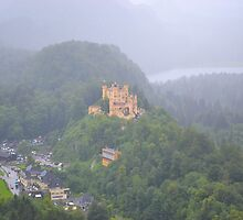 Hohenschwangau Palace viewed from Neuschwanstein Castle  by Imagery