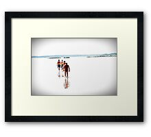 Walking on the Water. Framed Print